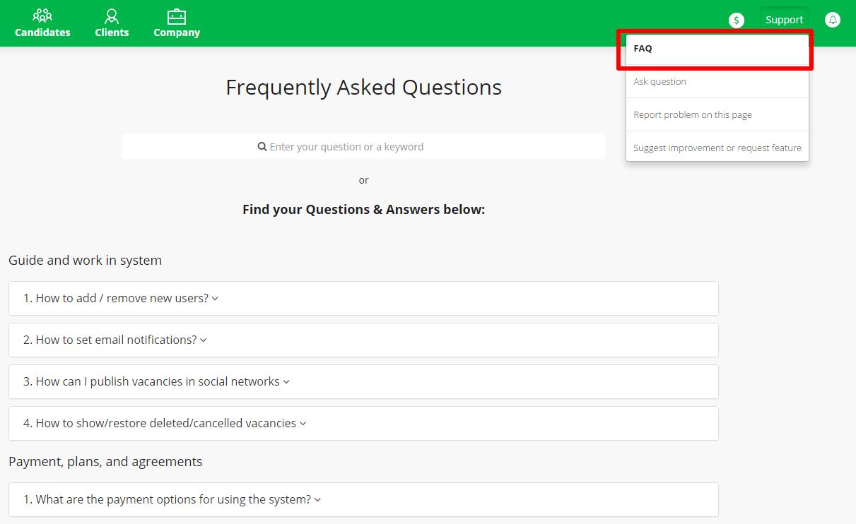 FAQ _ CleverStaff _ Распространенные вопросы