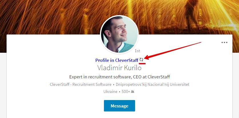 CleverStaff. Update resume from LinkedIn