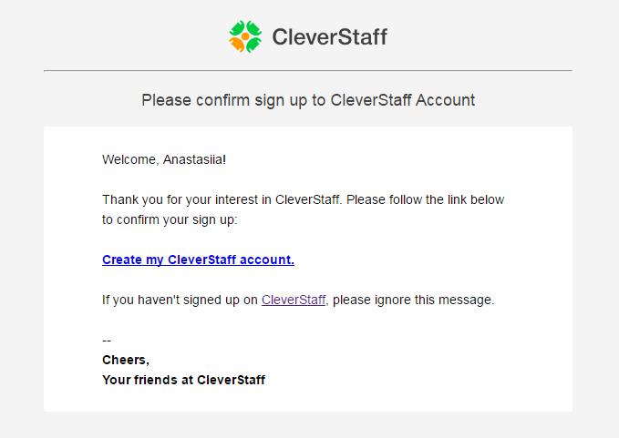 CleverStaff auto emails