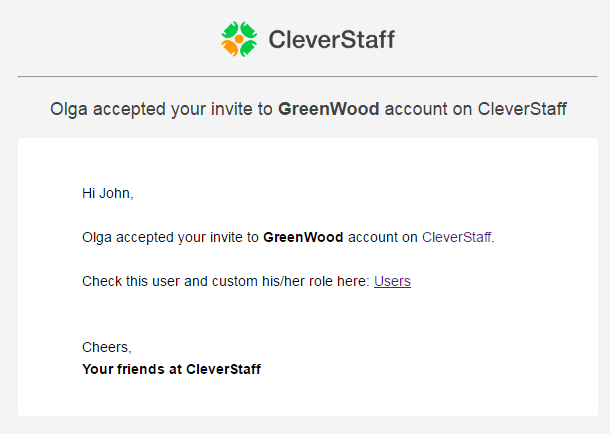 CleverStaff_Invite_accepted