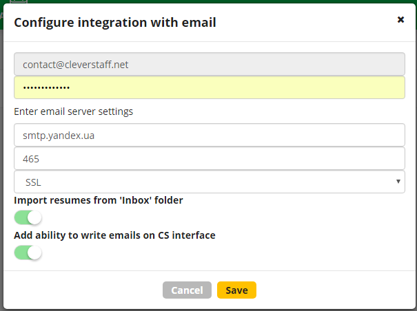 configure integration
