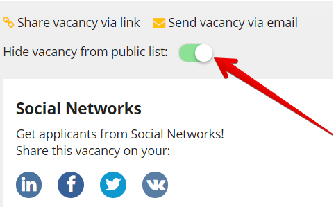 QA Engineer   CleverStaff Google Chrome 2018 03 05 13.09.40 - Новая версия: скрытие вакансии из публичного списка и приглашение Hiring manager`a сразу в вакансию