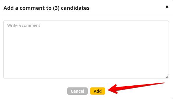 dobavlenie kommenta skrin 2 - Массовое добавление комментариев и массовое удаление кандидатов - новые функции в CleverStaff