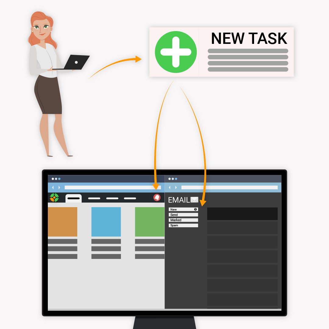 notification 2 3 - Tasks notification of assignments or execution