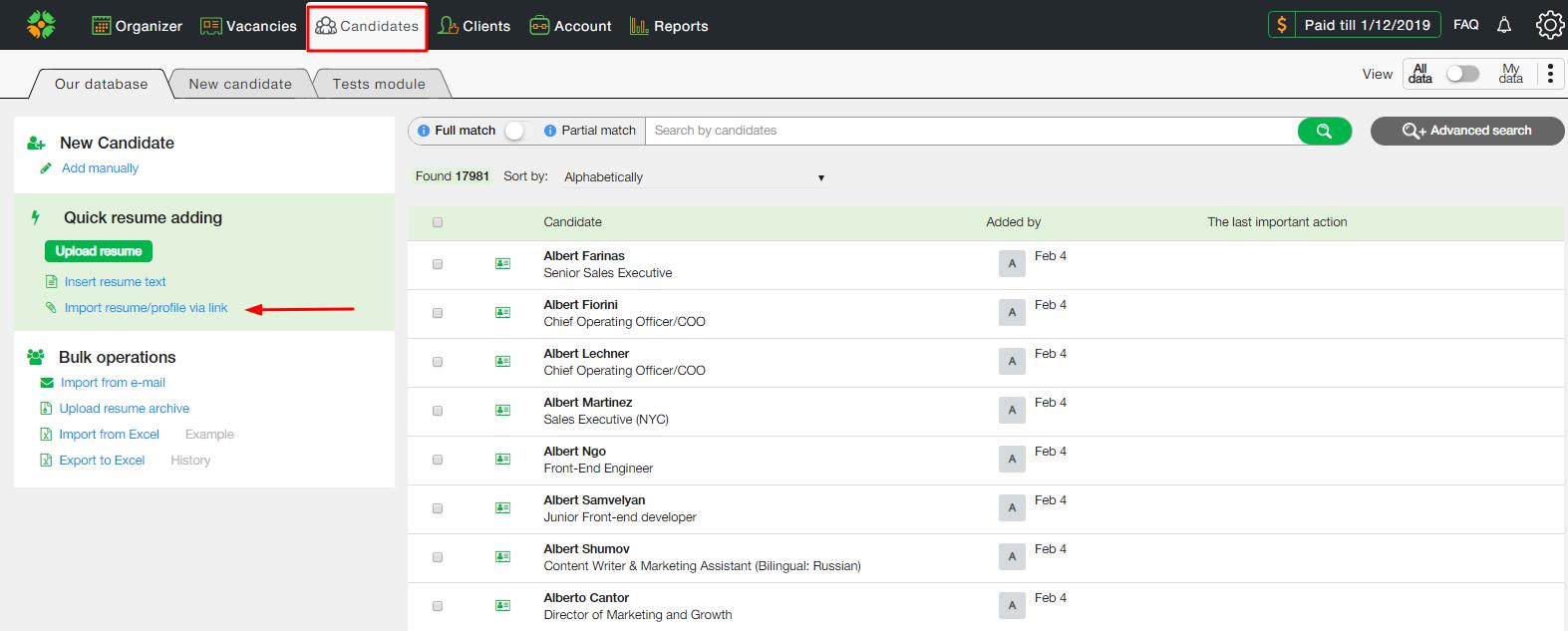 Screenshot1.1 - Новая возможность системы CleverStaff - добавление резюме из GoogleDocs