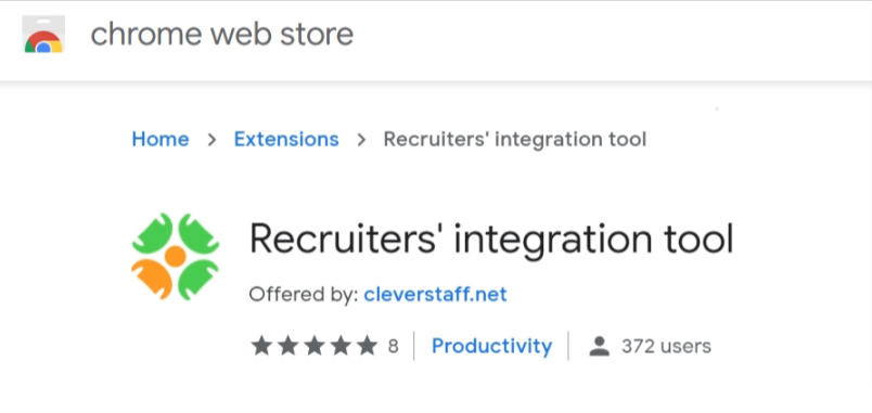 Desktop screensh 2 - Now extension for transferring candidates into your CleverStaff database is available in the Chrome Web Store!